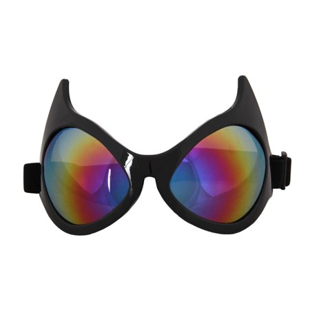 Cat Eye Costume Goggles Adult: Rainbow Lens