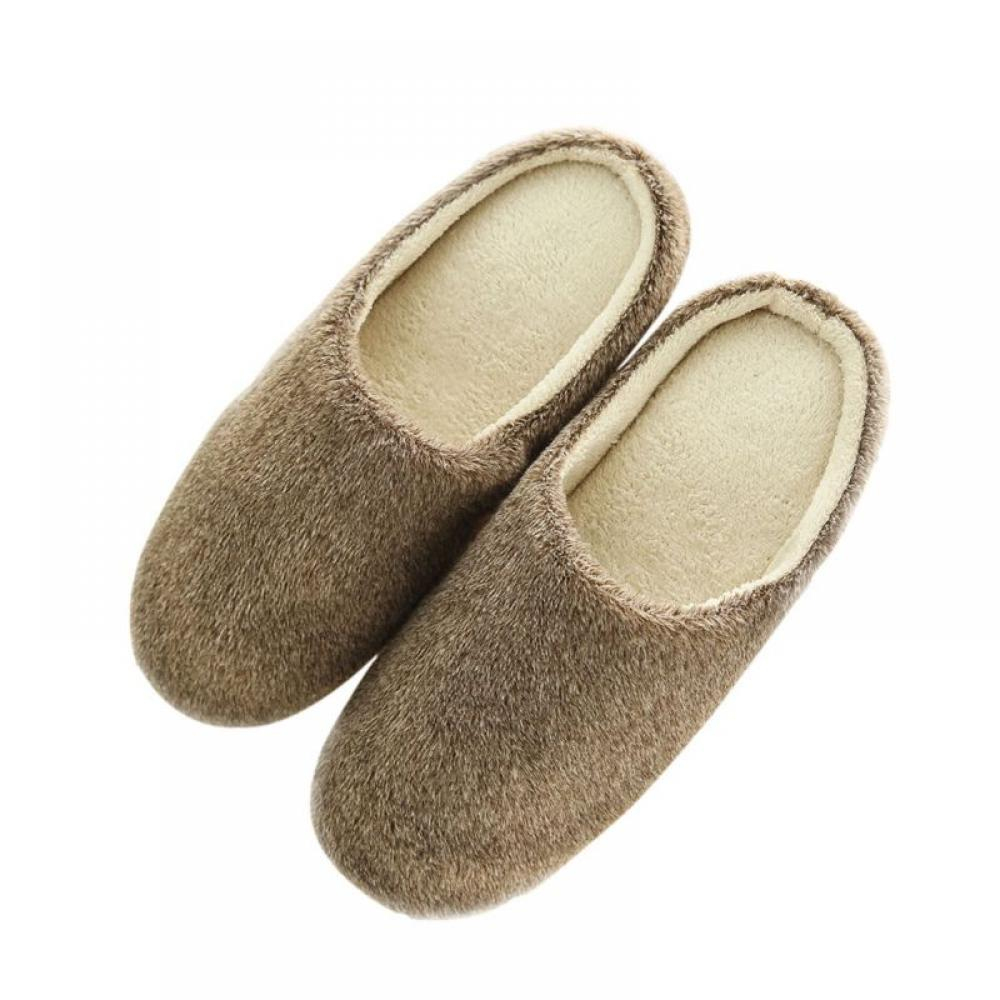 Details about  /Fashion Memory Foam House Slippers for Womens Mens Winter Warm Home Cotton Slipp