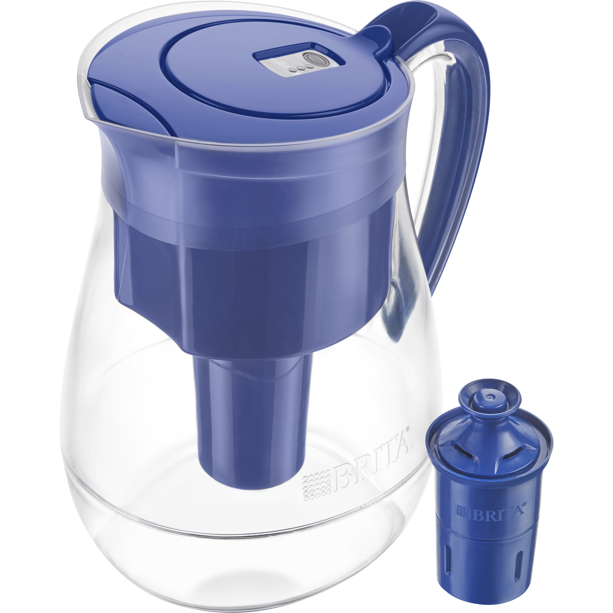 Brita Monterey Water Pitcher with 1 Longlast Filter - BPA Free - Blue - 10 Cup