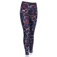 New England Patriots Zubaz Women's Marble Legging - Navy/Red