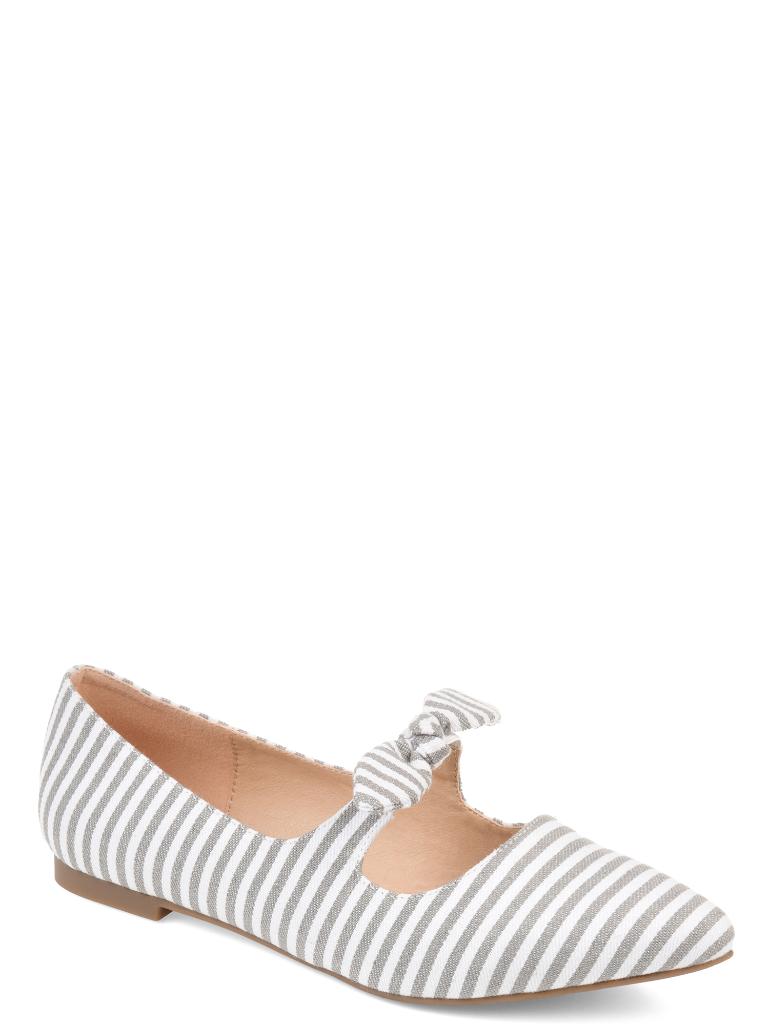 Womens Bow Accent Almond Toe Flats