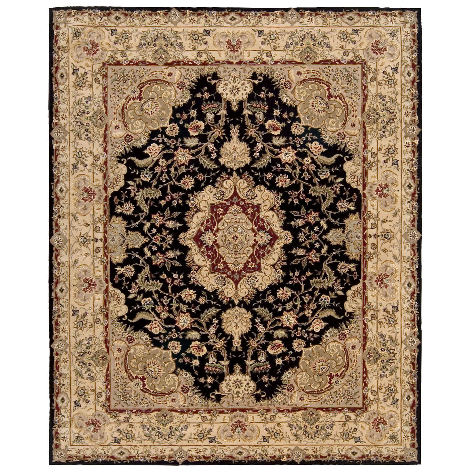 Nourison 2000 2028 Oriental Rug Black-3.9 x 5.9 ft. by Overstock