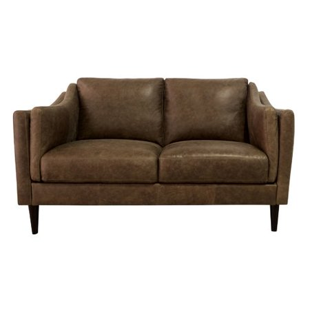 Marvelous Union Rustic Riley Leather Loveseat Andrewgaddart Wooden Chair Designs For Living Room Andrewgaddartcom