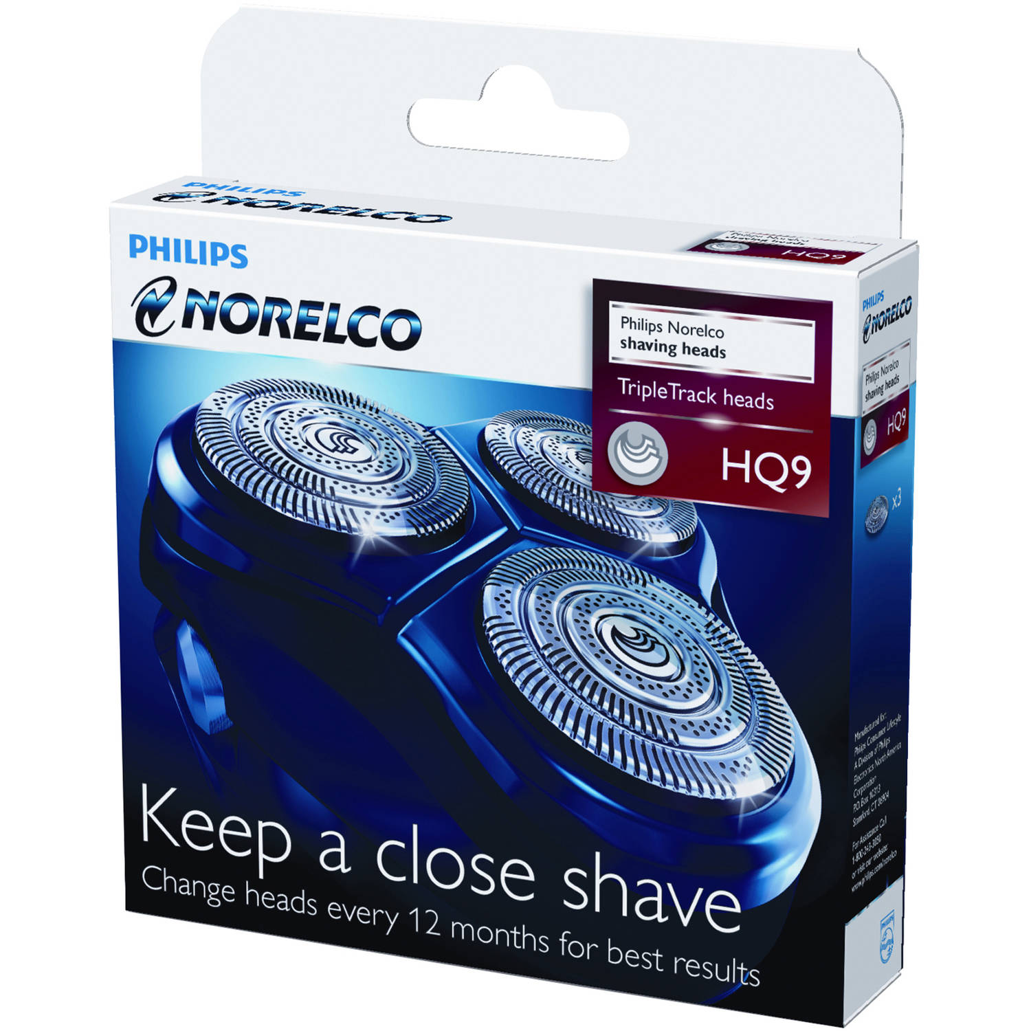 Philips Norelco Replacement Shaving Heads, HQ9/52