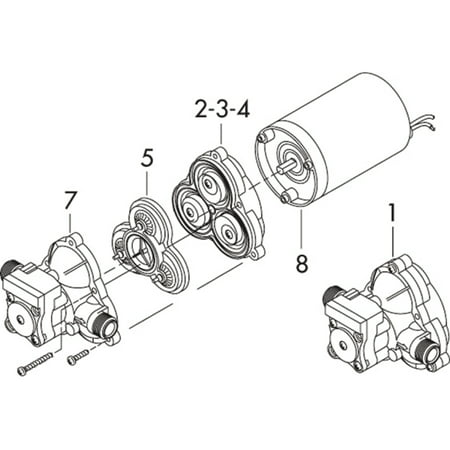 Shurflo Switch and Upper Housing for 2088/2093 Series