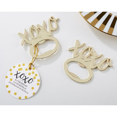 20 XOXO Gold Bottle Openers | Guest Gifts, Party Souvenirs, Party Favor or Decorations for Bridal Showers, Bachelorette Parties, Birthday Parties, Wedding Favors & More - Baby Shower Party Favors For Guests