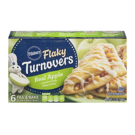 Pillsbury Real Apple Flaky Turnovers, 6 Count, 12 oz