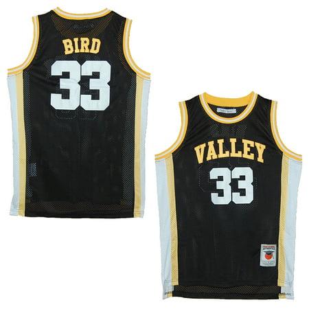 reputable site 6b47e f634b Springs Valley Blackhawks Larry Bird Black High School Jersey (M)
