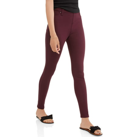 81d9d05eb82 Time and Tru - Women s Full Length Soft Knit Color Jegging - Walmart.com
