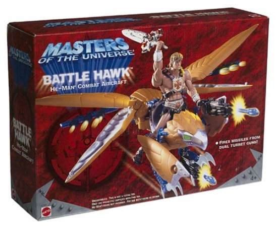 Masters of The Universe Battle Hawk He-Man Combat Aircreaft Mattel Toy by Mattel