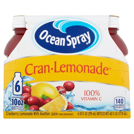 (4 Pack) Ocean Spray Juice, Cran-Lemonade, 10 Fl Oz, 6 Count