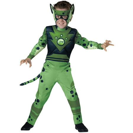 Wild Kratts Quality Green Cheetah Child Halloween - Green Bastard Costume