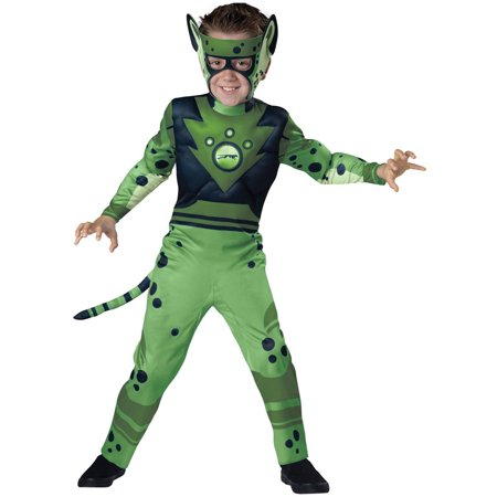 Cheetah Print Costumes (Wild Kratts Quality Green Cheetah Child Halloween)
