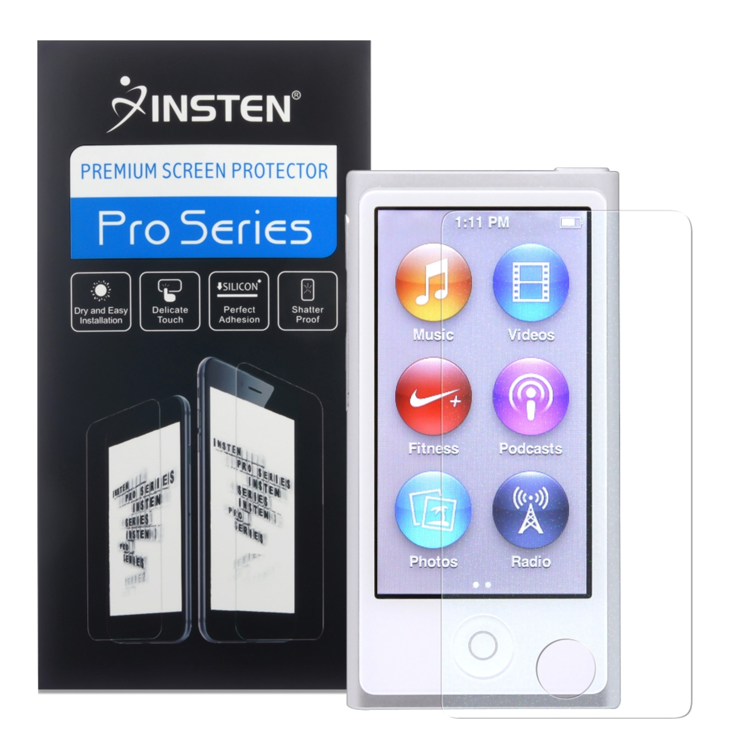Insten 2x Colorful Diamond LCD Film Screen Protector For iPod Nano 7 7th Generation 7G