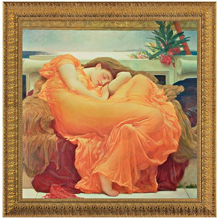 Design Toscano Flaming June, 1895 by Lord Frederic Leighton Framed Painting Print