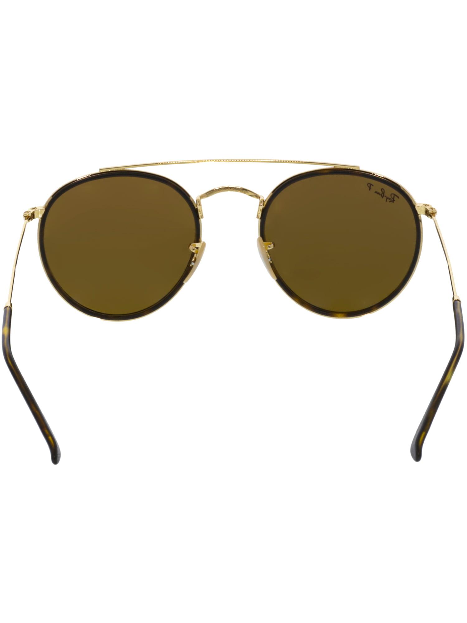 a9b3be75ffdc8 Ray-Ban - Ray-Ban Round Double Bridge Gold Sunglasses