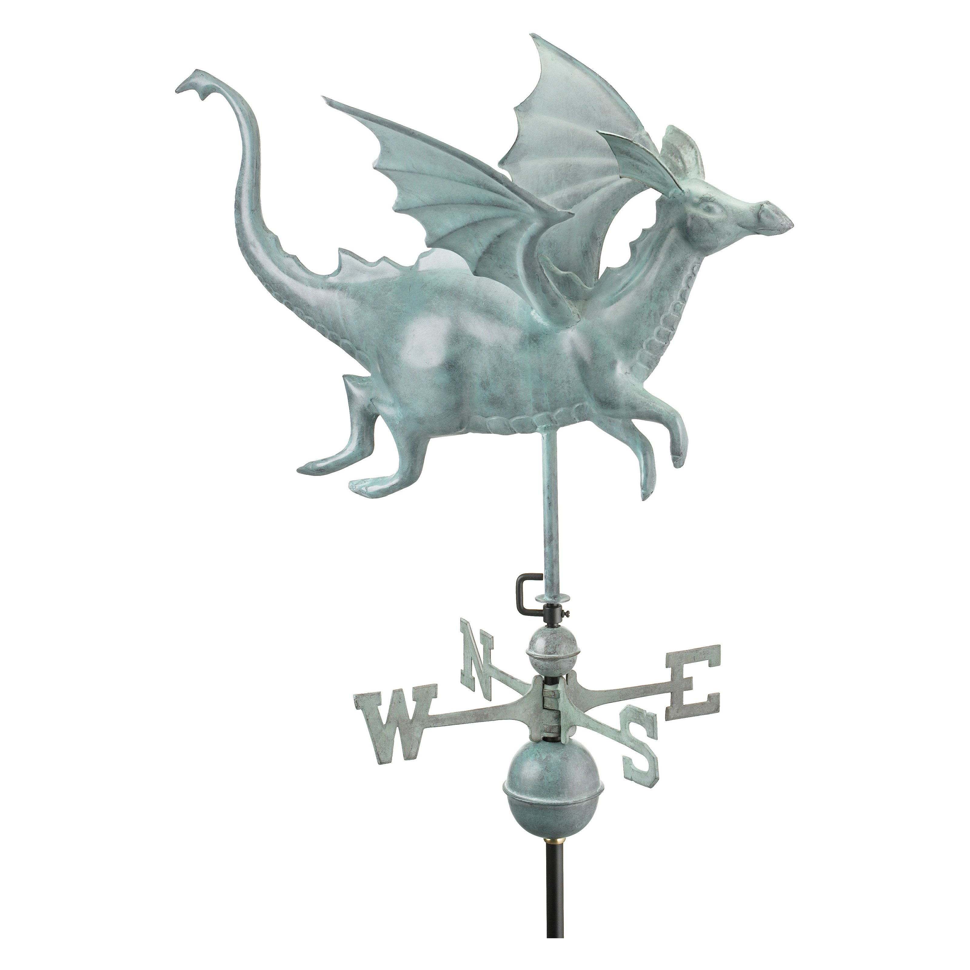 Good Directions Dragon Weathervane, Blue Verde Copper by Good Directions