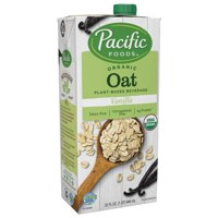 (2 pack) Pacific Foods Organic Oat Milk Non-Dairy Vanilla Beverage, 32 fl oz