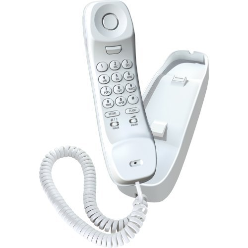 Uniden 1100 Slimline Corded Phone, White