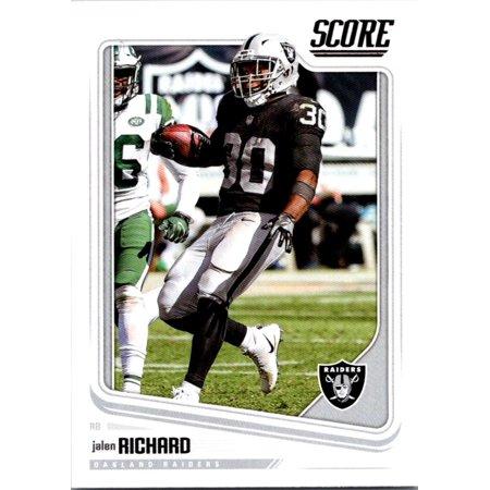 2018 Score #255 Jalen Richard Oakland Raiders Football (Field Oakland Raiders Football Rug)