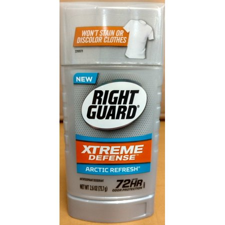 Arctic Guard - 4 Pack Right Guard Xtreme Defense 5in1 Protection Arctic Refresh Solid 2.6 Oz Ea