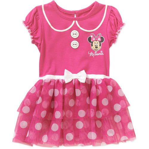 Minnie Mouse Newborn Baby Girls' Graphic Skirted Bodysuit