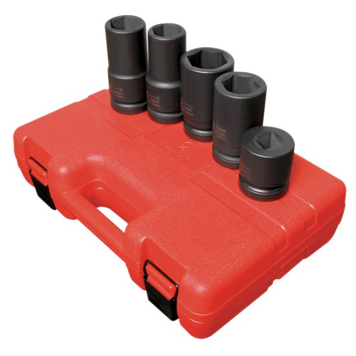 Sunex Tools 5685 5-Piece 1 in. Drive SAE/Metric Wheel Service Impact Socket Set