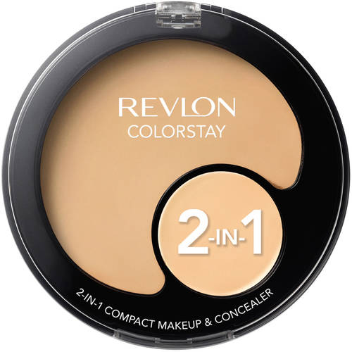 Revlon Colorstay 2-in-1 Compact Makeup and Concealer, Natural Tan 330