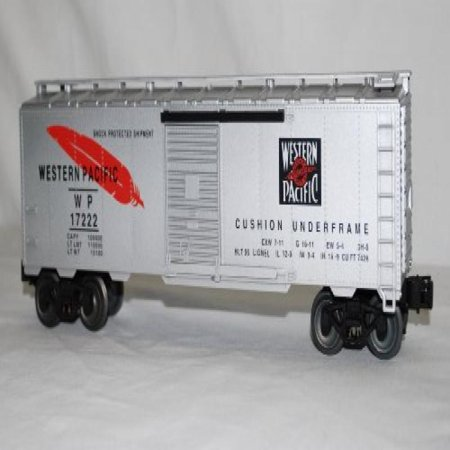 Lionel 6-17222 WP Western Pacific Boxcar Standard O 1/48 Silver with Feather ()