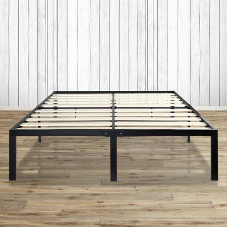 granrest 14 inch tall platform metal platform bed frame with wood slat grw7500 mattress. Black Bedroom Furniture Sets. Home Design Ideas