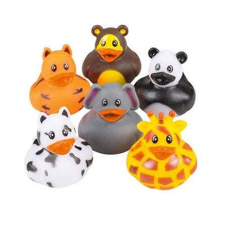 Rhode Island Novelty - Rubber Ducks - ZOO ANIMAL DUCKIES (Set of 6 Styles)](Novelty Rubber Ducks)