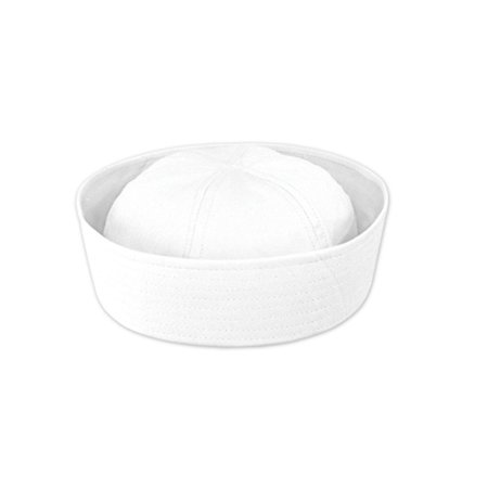 Club Pack of 12 Nautical White Sailor Hat Halloween Costume Accessories - One Size Fits Most