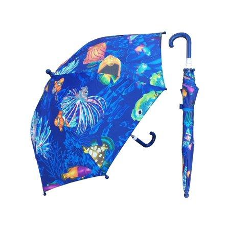 w104chocean 32 in. childrens ocean print umbrella, 3 piece - Childrens Boutiques