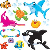 Trend, TEP8304, Sea Buddies Bulletin Board Set, 44 / Set, Multicolor