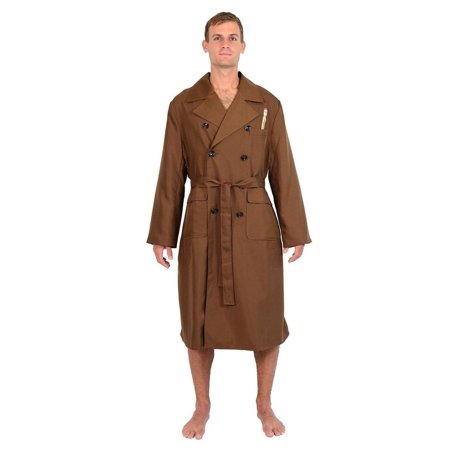 Detective Trench Coat Costume (Brown 10Th Doctor Trench Coat Costume Bathrobe (One)