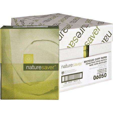 Nature Saver, NAT06050, Recycled 92 Bright Paper, 5000 / Carton, White