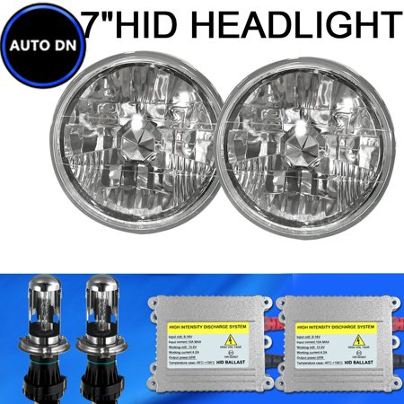 1Pair H4 Hid Light Bulbs 10000K Cool Blue 7  Headlight Hi Lo Beam For 1992 Mazda