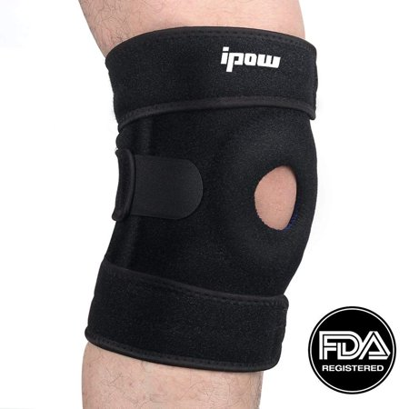 IPOW Knee Brace Neoprene Patella Hinged Straps Support for Jumper Runner Injury, Chondromalacia, Tendonitis,