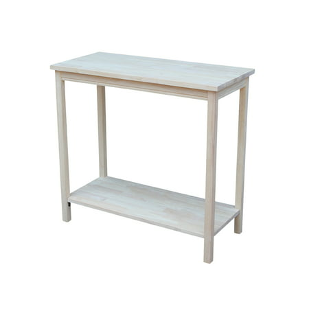International Concepts Ot-43 Portman Accent Table, Ready To (Alder Unfinished Table)