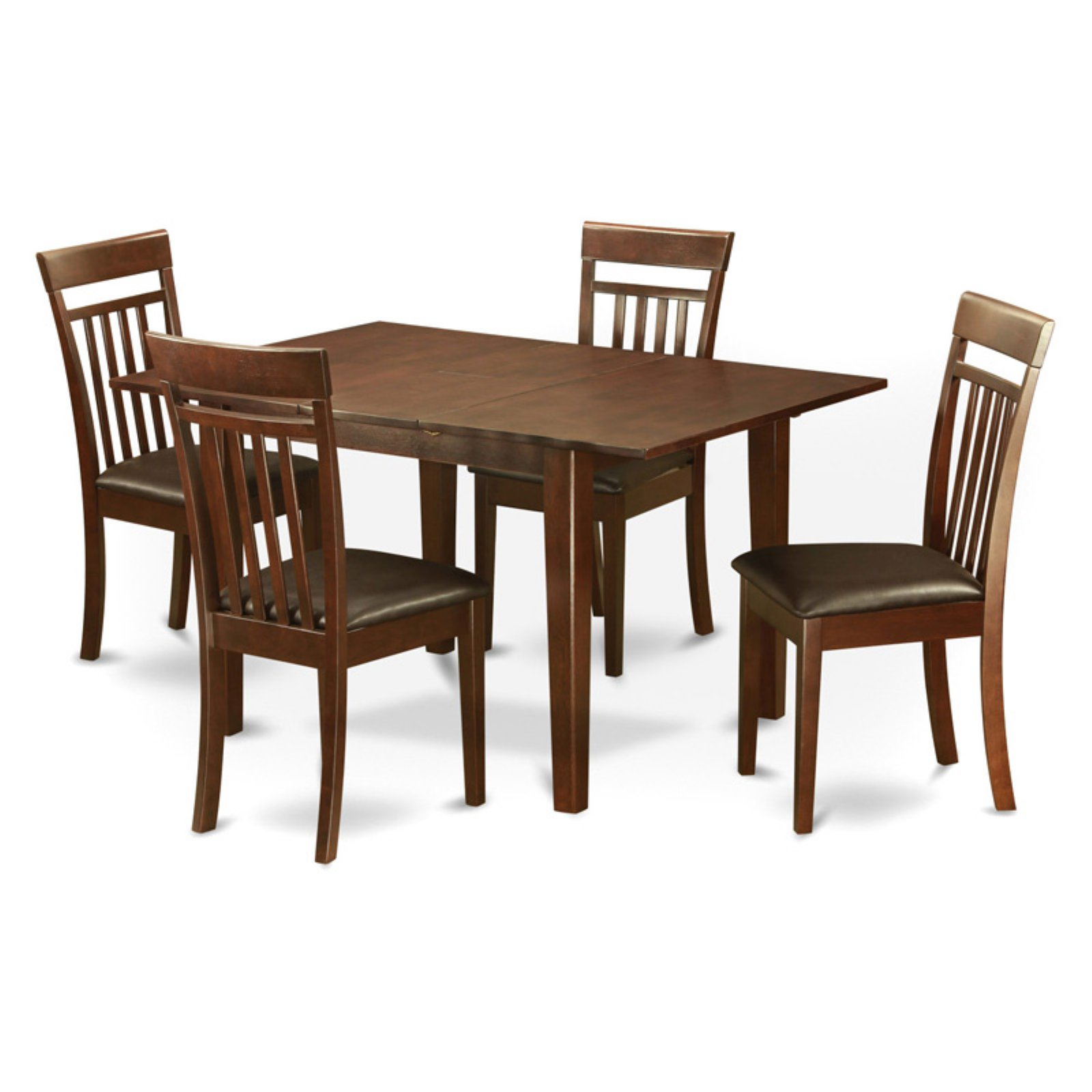 East West Furniture Milan 5 Piece Rectangular Dining Table Set with Capri Chairs