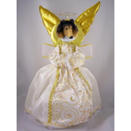 NXTT23A Collie Sable Doogie Collection Angel Tree Topper