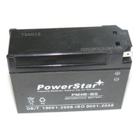 BatteryJack PM4B-BS-07 NEW High Performance 12 V SMF Battery New Replacement YT4B - BS Maintenance Free