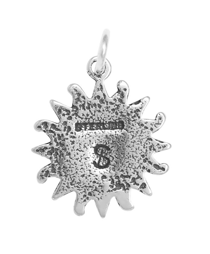 Raposa Elegance Sterling Silver Aztec Sun Charm on Optional Charm Holder