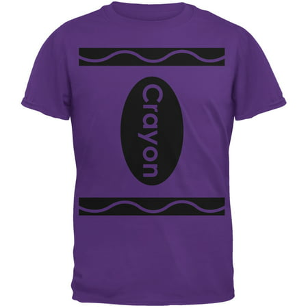 Halloween Crayon Costume Purple Adult T-Shirt - Spencer's Halloween T Shirts