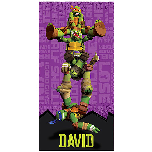 Personalized Teenage Mutant Ninja Turtles Turtle Power Beach Towel
