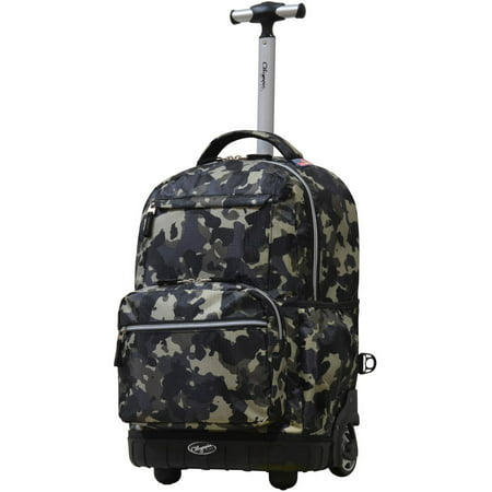 Camouflage Rolling Backpack - Melody 19 Rolling Backpack