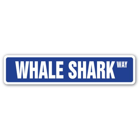 WHALE SHARK Street Sign week ocean dangerous teeth mammal | Indoor/Outdoor | 24