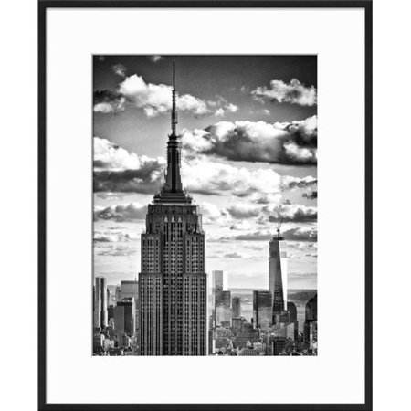 Williston Forge 'Cityscape Skyscraper, Empire State Building and One World  Trade Center, Manhattan, NYC' Framed Photographic Print