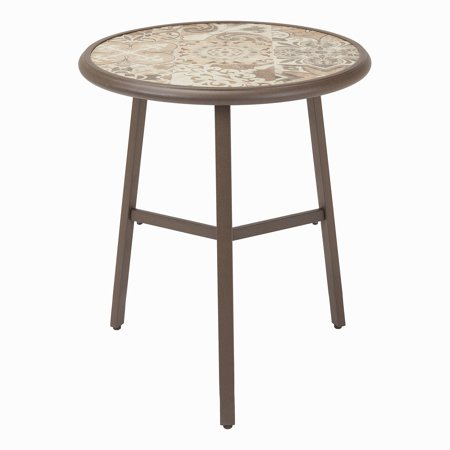 Mainstays Dalloway Round Patio Bistro Table with Tile Top ()