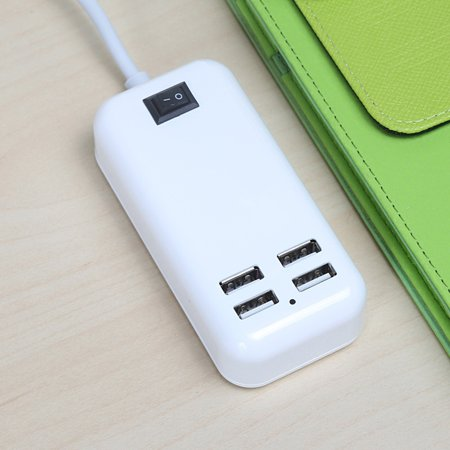 4-Outlet/ 6-Outlet Power Travel Adapter Strip with Switch USB Wall Socket Cell Phone Desktop Charging